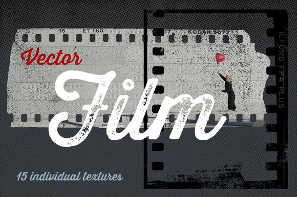 15 Vector Film Textures