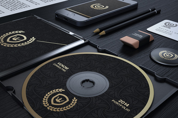 Gold And Black Corporate Identity