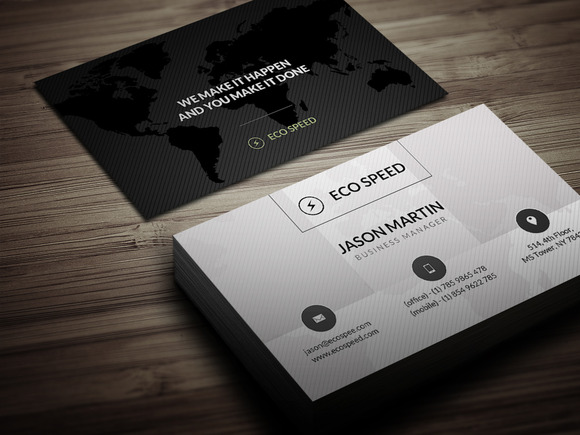 Creative World Map Business Card