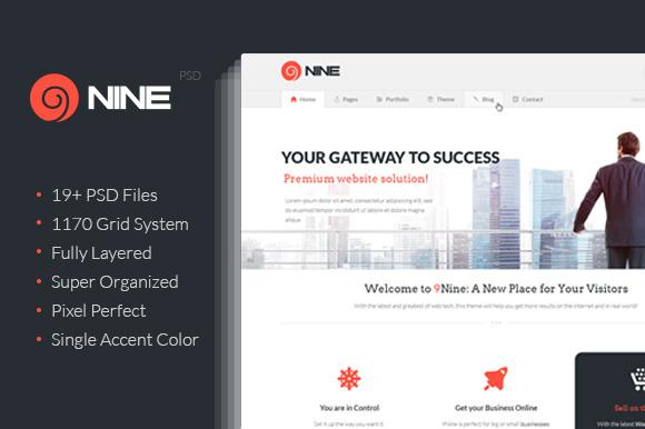 9Nine Clean PSD Design