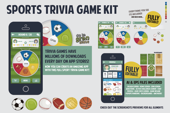 Sports Trivia Full Game Kit