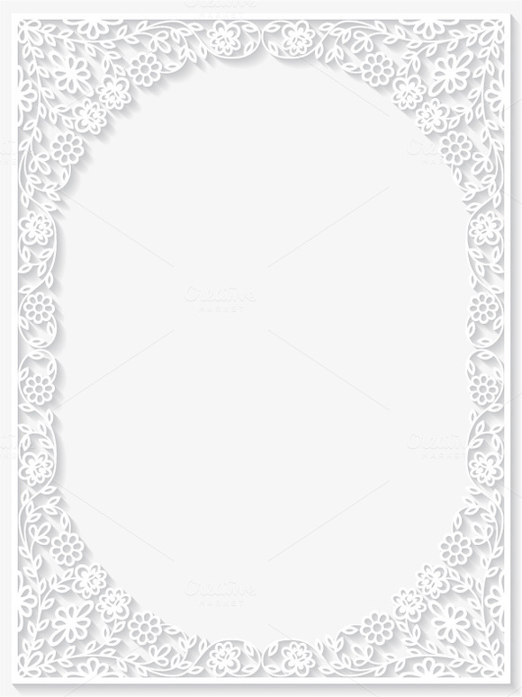 Set Of Floral Frames