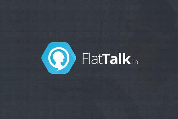 Flat Talk Logo Design