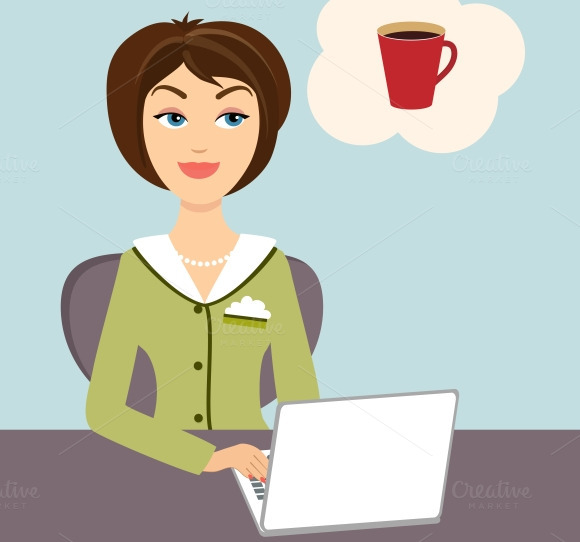 Secretary With Coffee