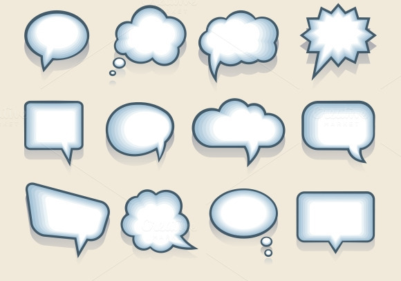 Vector Speech Or Thought Bubbles