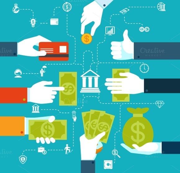 Infographic Financial Flowchart