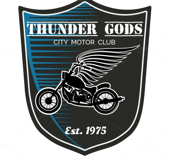 Vector Motorcycle Club Label