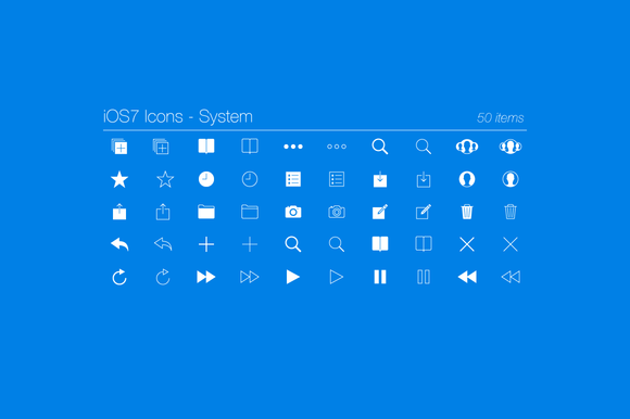 IOS7 Icons System