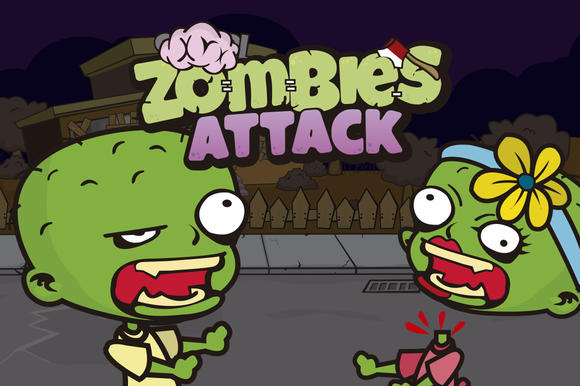 Zombies Attack Game GUI Set