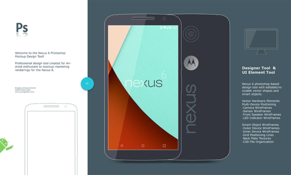 Nexus 6 Android Mockup Concept