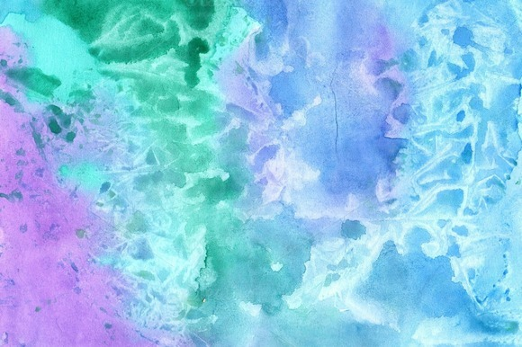 Five Watercolors Background