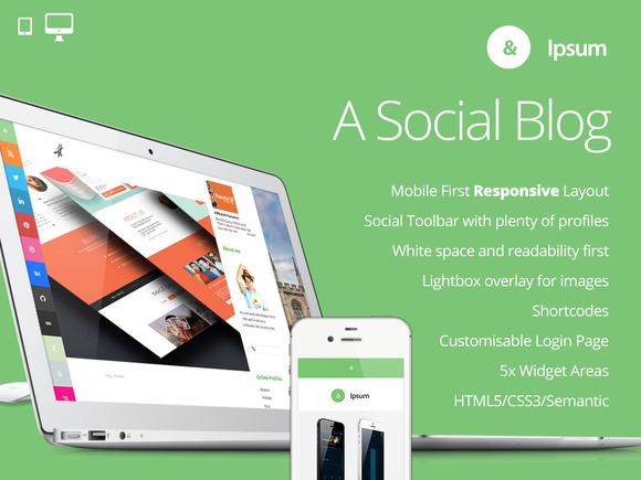Ipsum Social Blogging Theme