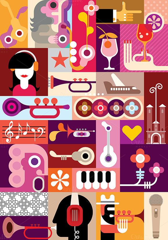 Musical Festival Illustration