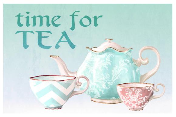 Vintage Tea Cups Pots