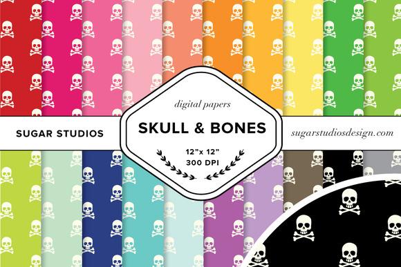 Skull And Bones Digital Paper Set