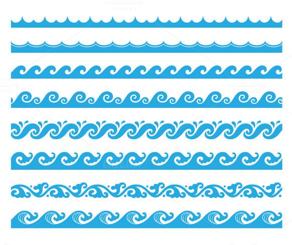 8 Wave Brushes Set