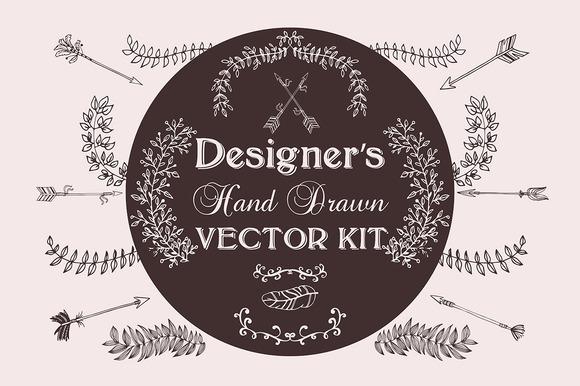 Designer S Hand Drawn Vector Kit