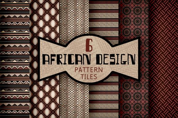 African Textile Design Pattern Tiles