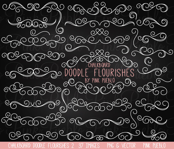 Chalkboard Doodle Flourishes