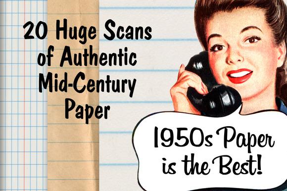 Authentic Mid-Century Paper Pack