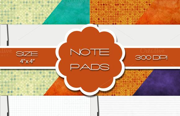 12 Notepads 4 X 4
