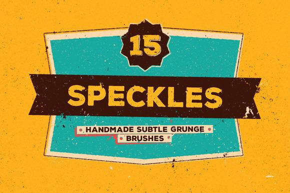 15 Speckles Grunge Brushes