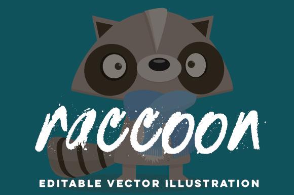 Hand-Drawn Raccoon Vector Cartoon