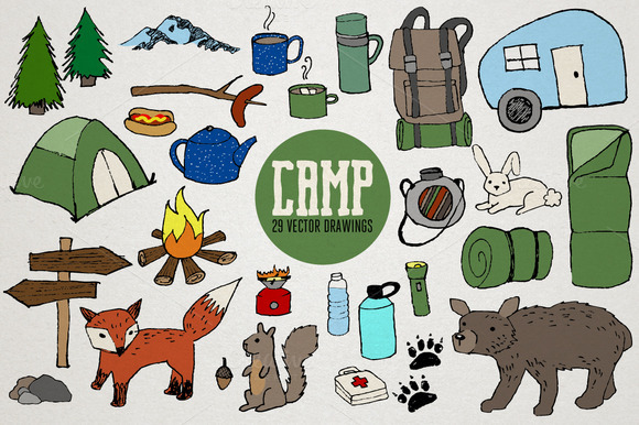 Camping Vector Illustrations