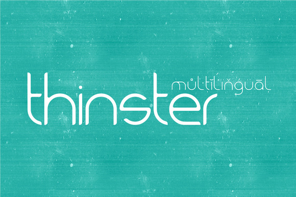 Thinster Typeface