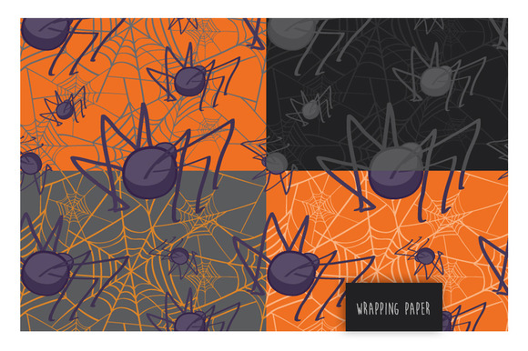 Halloween Patterned Wrapping Paper