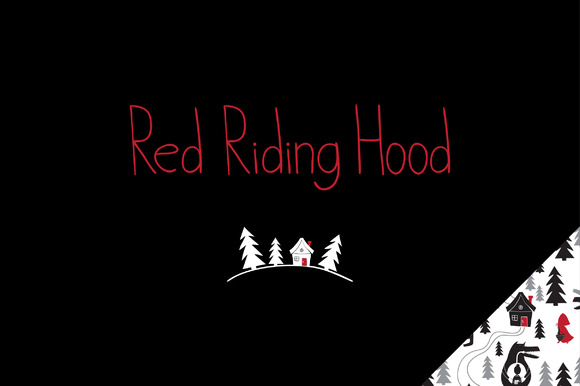 Red Riding Hood Set In Vector Eps.10