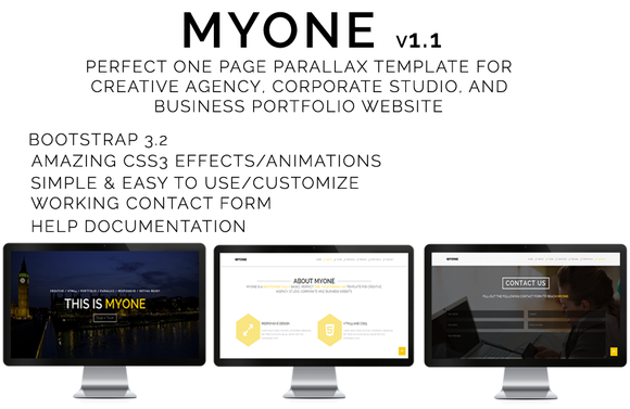 MYONE One Page Parallax Template