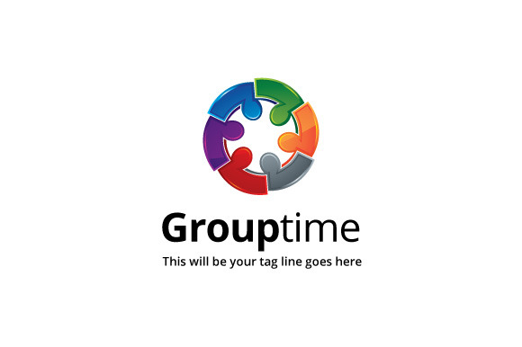 Group Time Logo Template