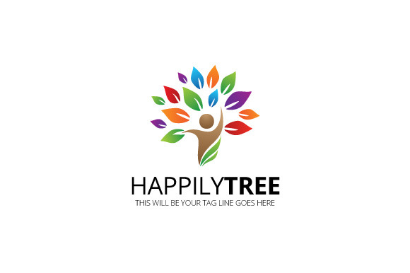 Happily Tree Logo Template