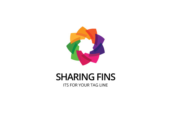 Sharing Fins Logo Template