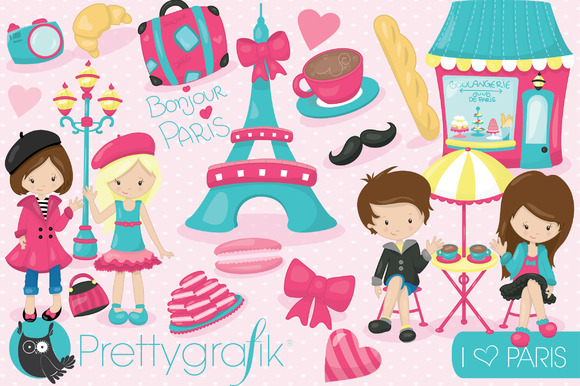 Paris Travel Clipart