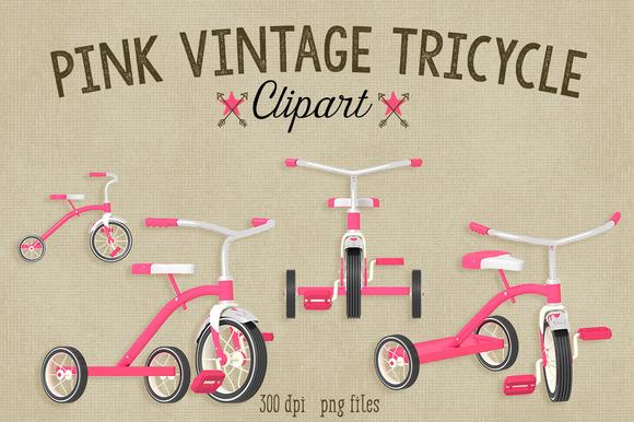 Pink Vintage Tricycle