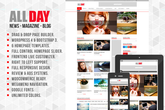 AllDay WordPress News Magazine