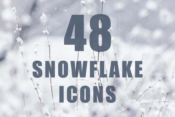 48 Unique Snowflake Icons