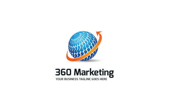 360 Marketing Logo Template