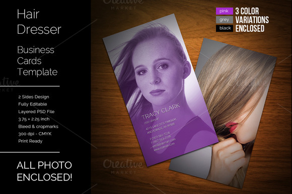 Hair Dresser Business Cards Template