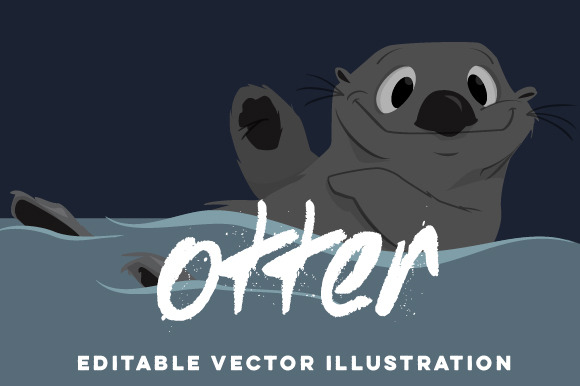 Hand-Drawn Otter Vector Cartoon