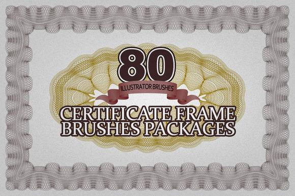 80 Certificate Frame Brushes