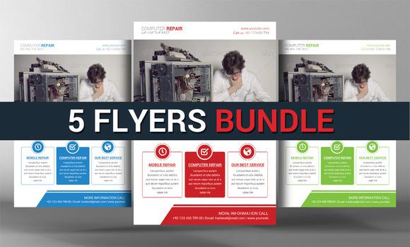 5 Corporate Flyers Bundle