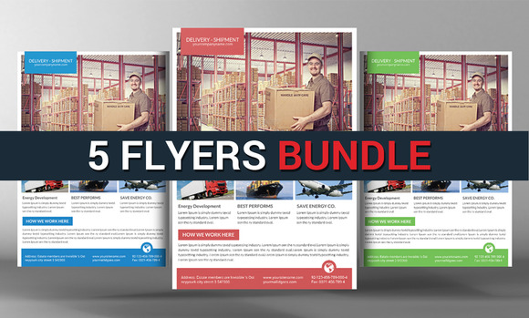 5 Business Corporate Flyers Bundle