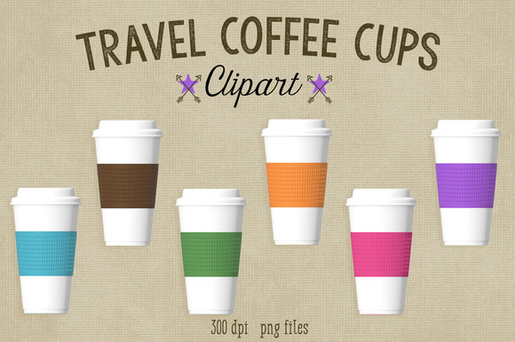 Travel Coffee Cups Clipart