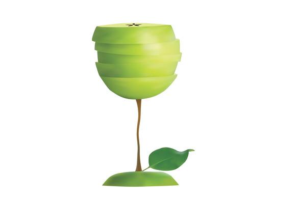 Apple Wine Glass