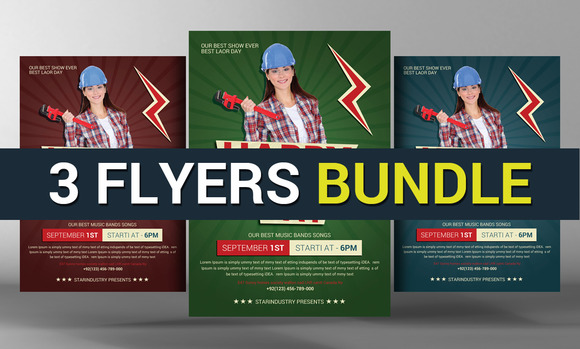 3 Business Corporate Flyers Bundle