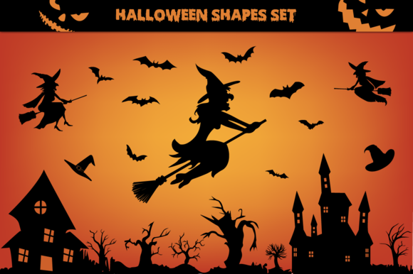 Halloween Shapes Set