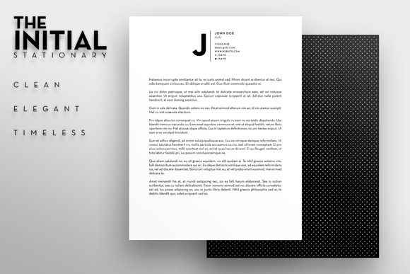 The Initial Letterhead Template